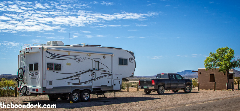 Arctic Fox Boondocking elephant Butte state Park New Mexico