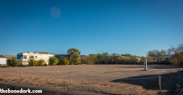 Vacant lot escapees RV park Congress Arizona