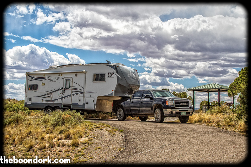 Arctic Fox Boondocking Valley of fires New Mexico