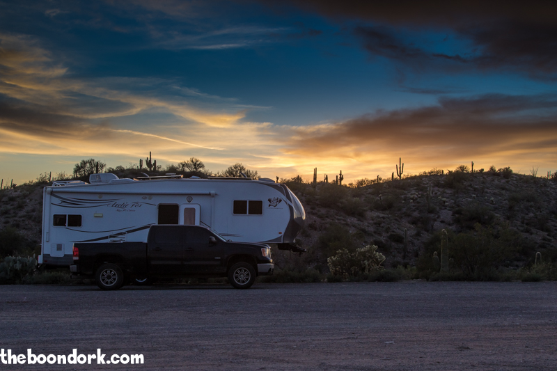 Arctic Fox Boondocking at box wash Wickenburg Arizona