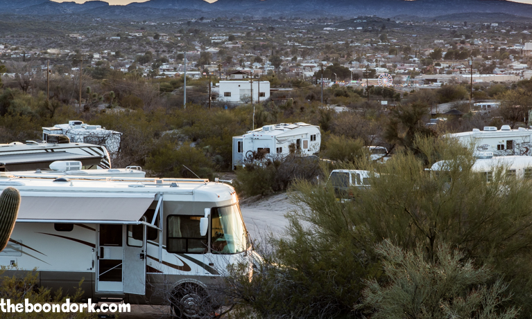 Boondocking and Wickenburg with the Arctic Fox