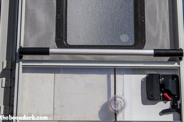 Arctic Fox fifth wheel screen door handle