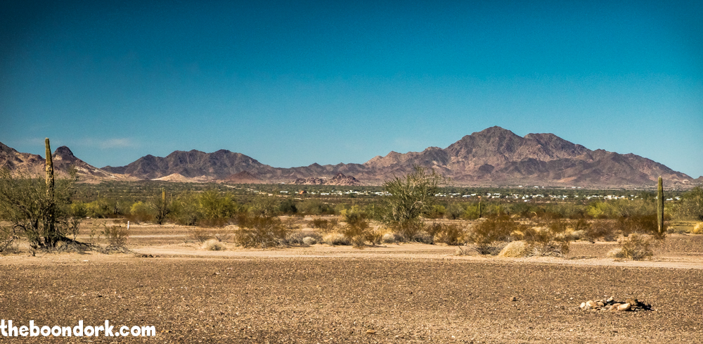 Quartzsite Arizona in the distance