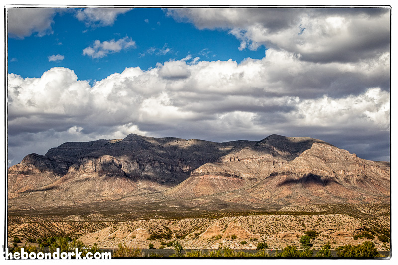 Mountains overlooking Caballo State Park New Mexico