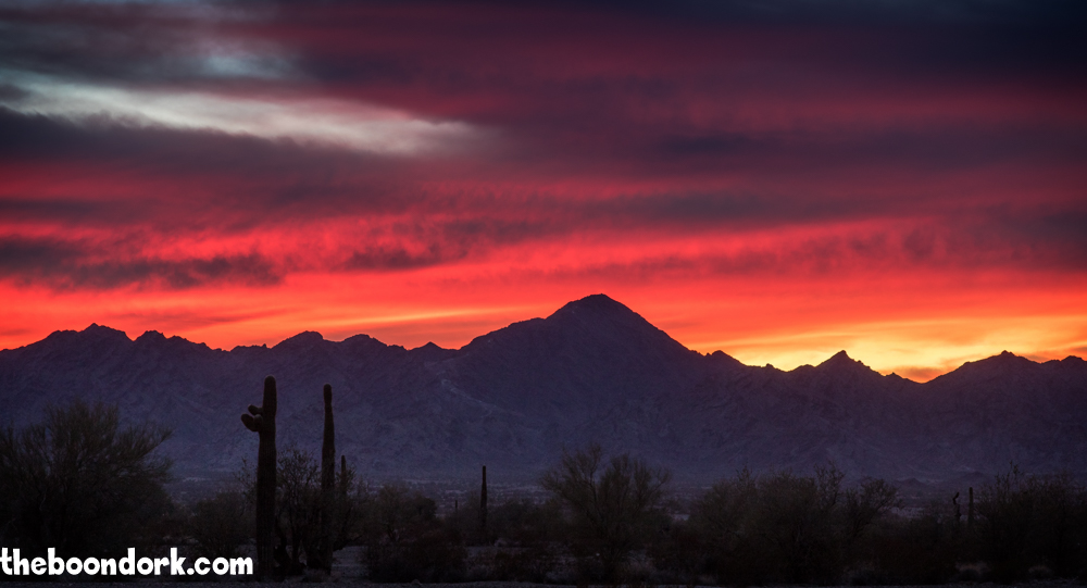 Sunset in Quartzsite Arizona