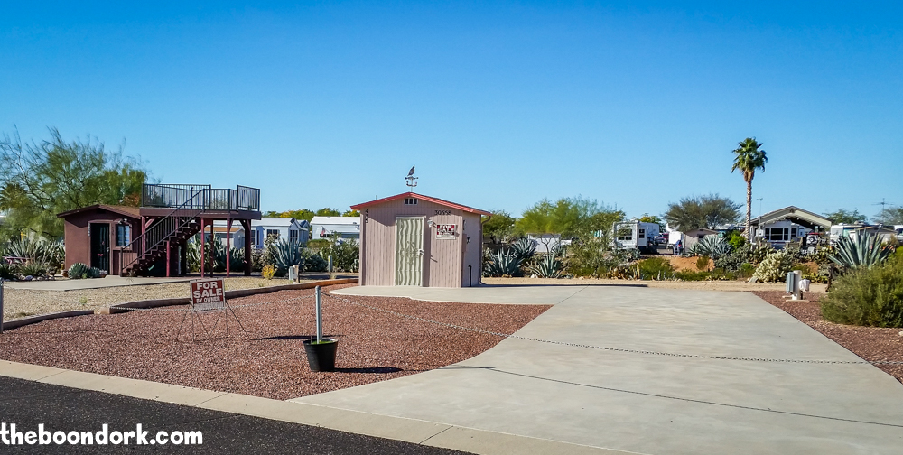 Lot for sale escapees RV park Congress Arizona