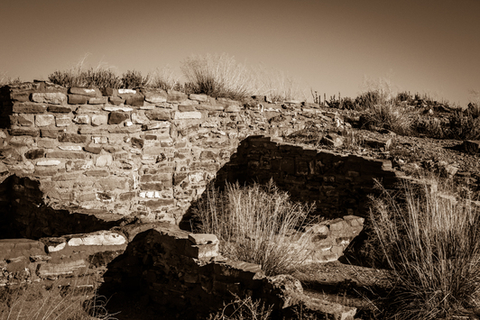 Anasazi ruins in a Homovoli state park New Mexico.