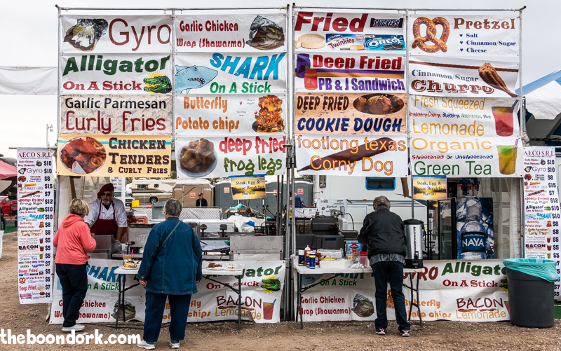 Food vendor Quartzsite Arizona the big show