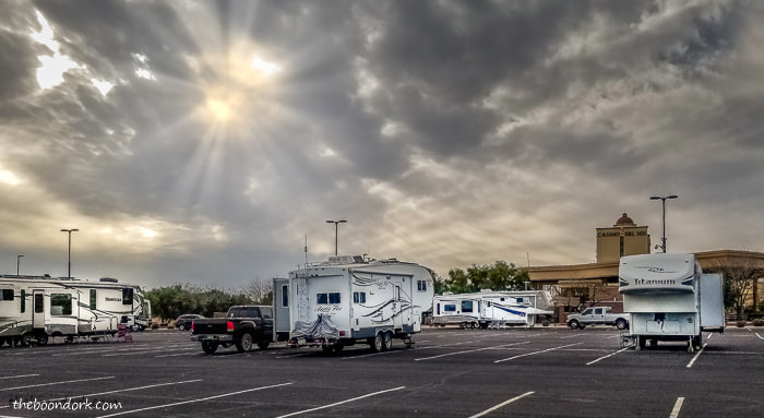 Arctic Fox Boondocking in a casino parking lot