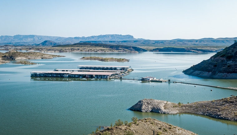 The dam site marina elephant Butte state Park New Mexico