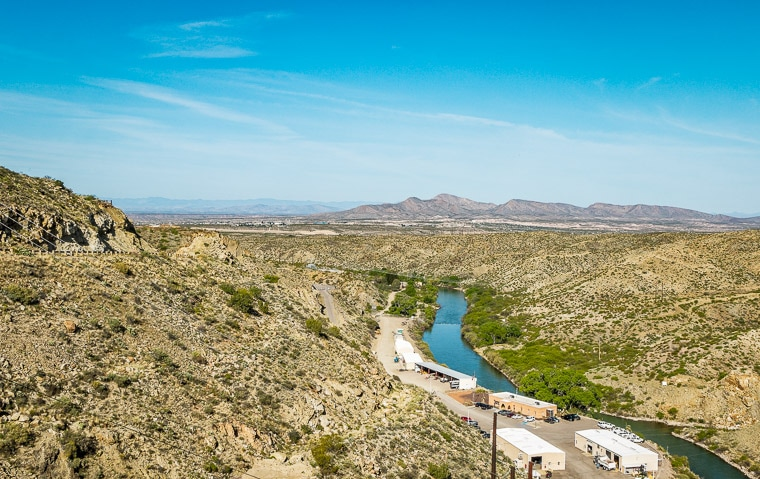 The Rio Grande truth or consequences New Mexico