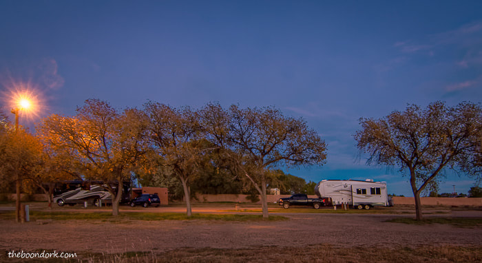 Camping at Storrie Lake state Park New Mexico