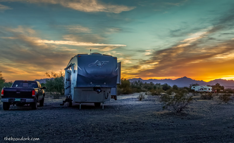 Quartzsite Arizona Arctic Fox boondocking