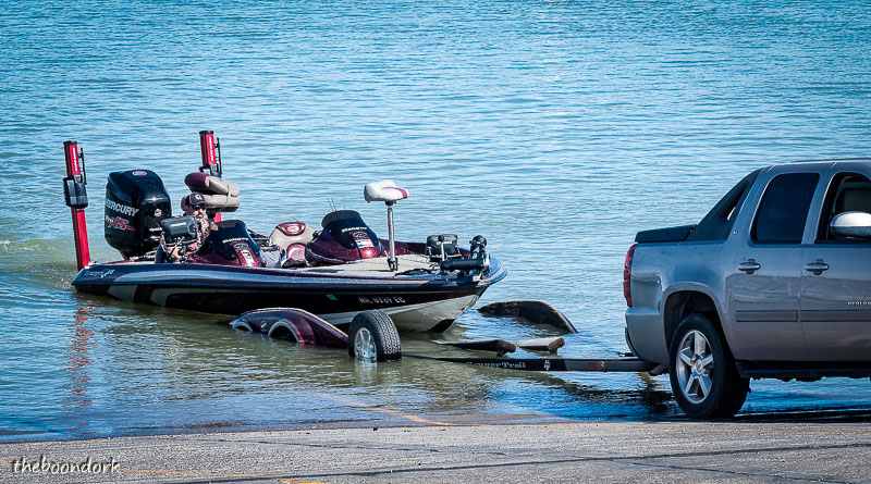 Loading up a boat Elephant Butte state Park New Mexico