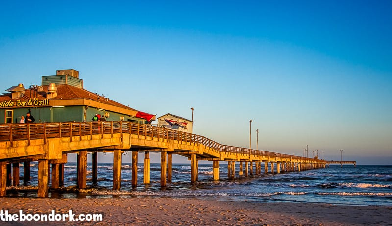 The Bob Hall fishing pier at sunset