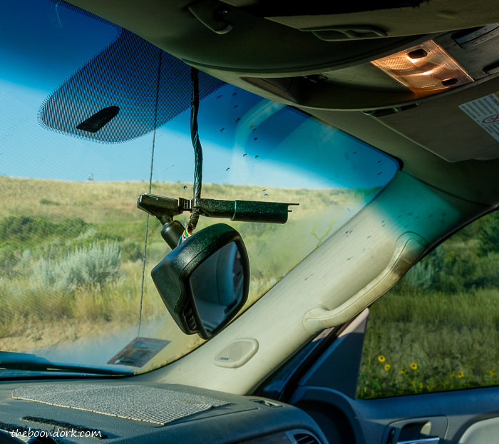 Rearview mirror hanging down