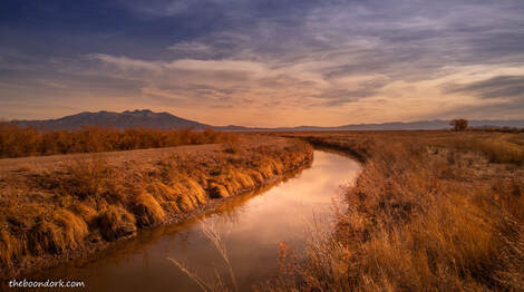 Irrigation ditch Alamosa wildlife refuge Picture