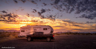 Boondocking sunset Picture
