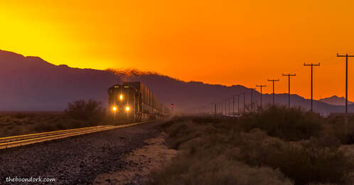 Freight train Dateland Arizona Picture