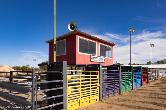 Rodeo announcer's booth Picture