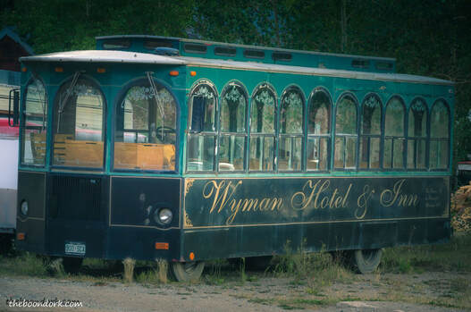 Old trolley car Silverton Colorado  Picture
