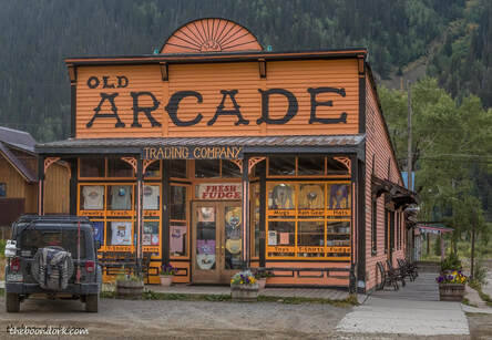 Old buildings Silverton Colorado  Picture