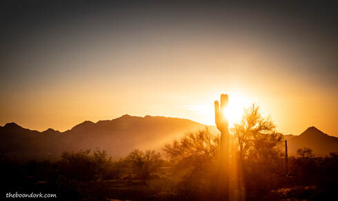 desert Sunset Quartzsite Arizona Picture