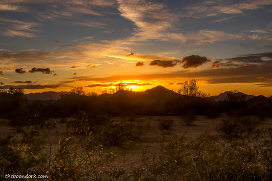 boondocking Sunset Quartzsite Arizona Picture