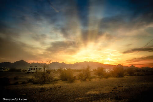 Quartzsite Arizona desert sunset Picture