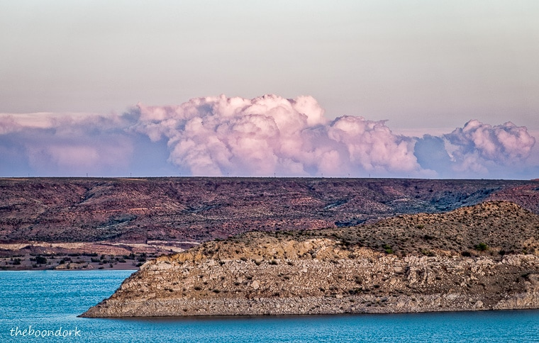 Clouds on the horizon elephant Butte State Park New Mexico