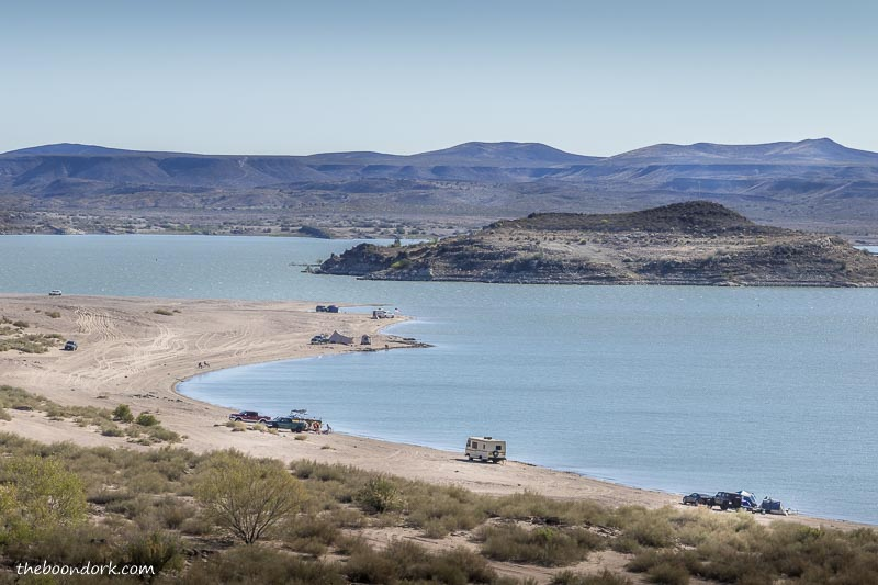 The beach at elephant Butte state Park