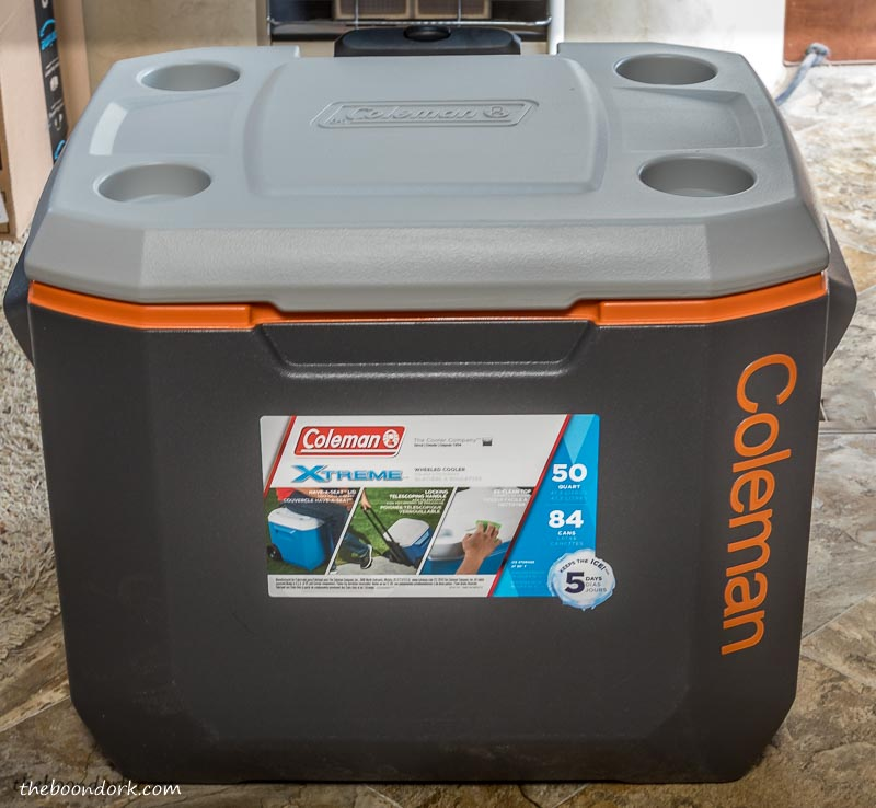 Coleman ice chest for boondocking