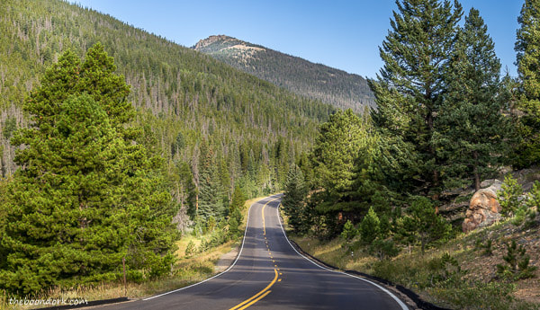 Road in Rocky Mountain national Park