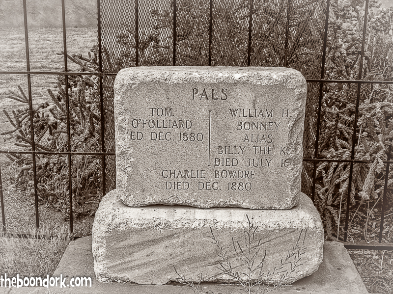 Headstone at Billy the Kid's grave Fort Sumner New Mexico