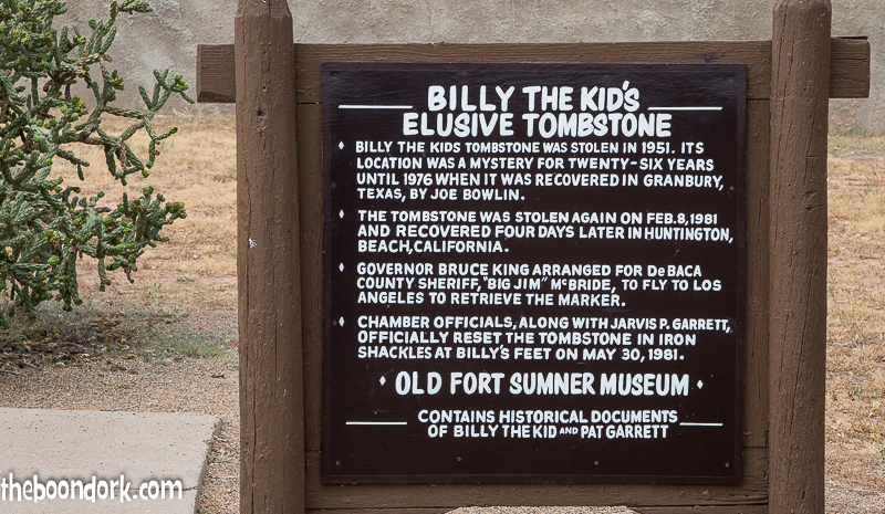 Sign at Billy the Kid's grave