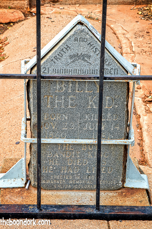 Billy the Kid's headstone  Fort Sumner New Mexico