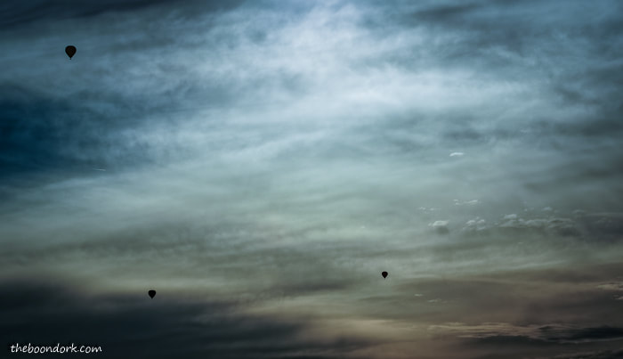 Balloons in the clouds