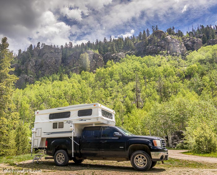 Boondocking in the national forest Colorado