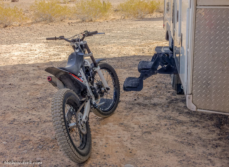 Beta 250 trials bike boondocking