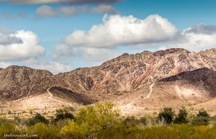 Mountain trails boondocking Quartzsite Arizona
