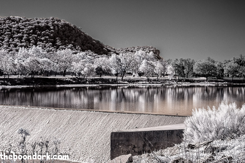 Infrared picture of the Llano River Junction Texas