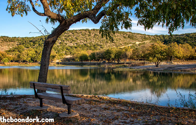 Bench on the Llano river