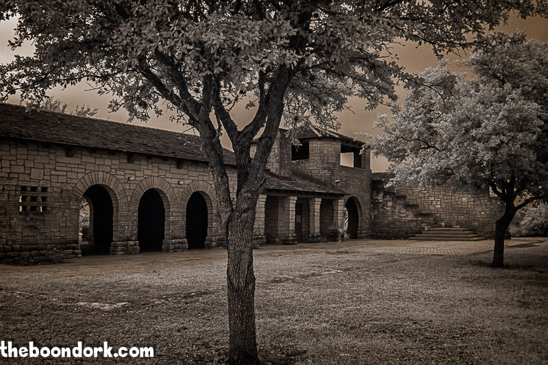 Infrared picture of old pavilion at Lake Corpus Christi state Park