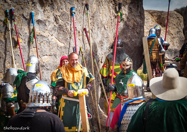 Group of knights at the city of rocks New Mexico