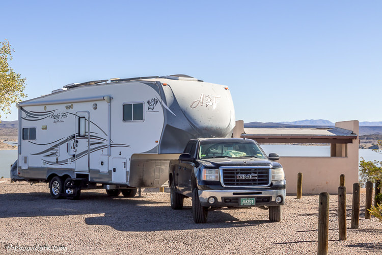 Boondocking at elephant Butte state Park New Mexico