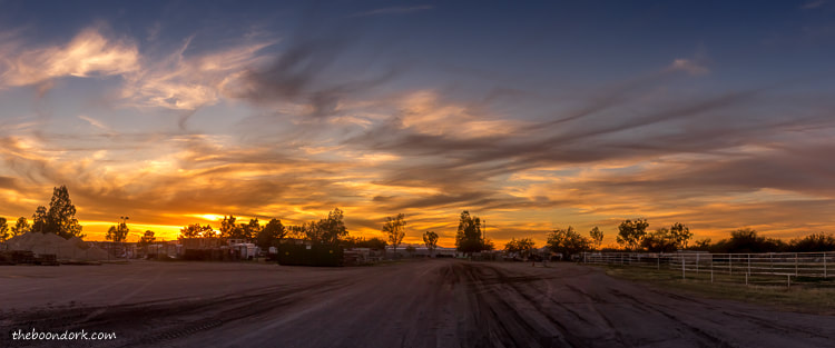 Pima County fairground sunset Tucson Arizona