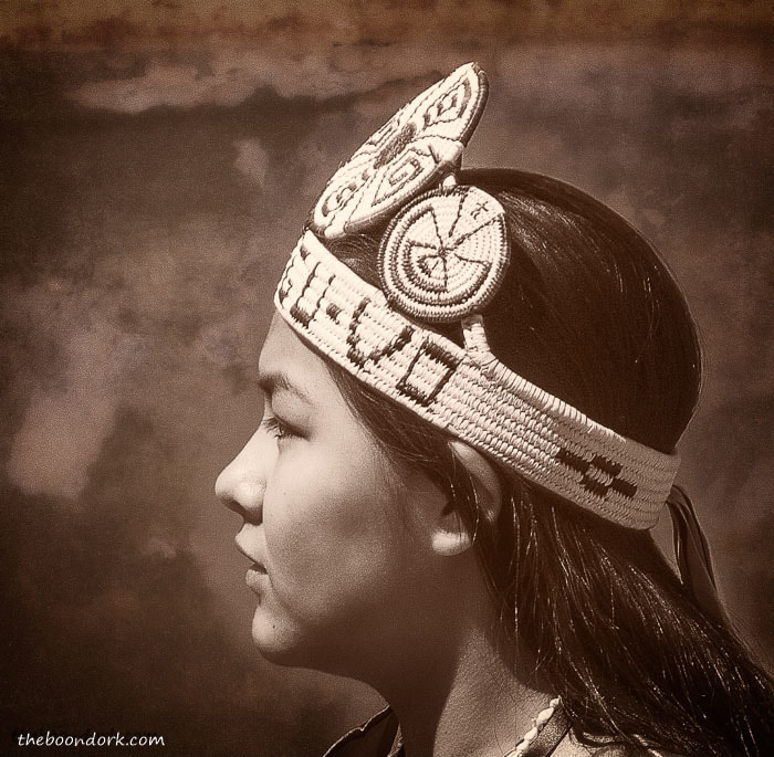 Native American girl at Tucson powwow