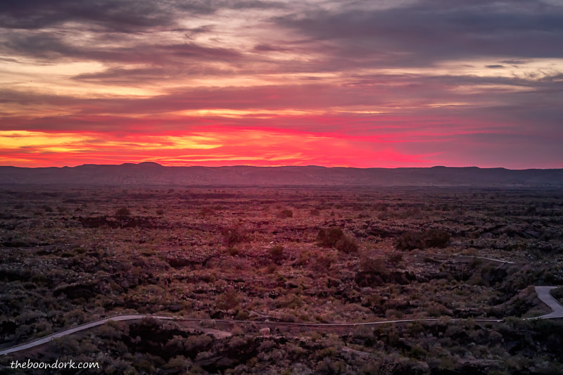Valley of fires New Mexico sunset